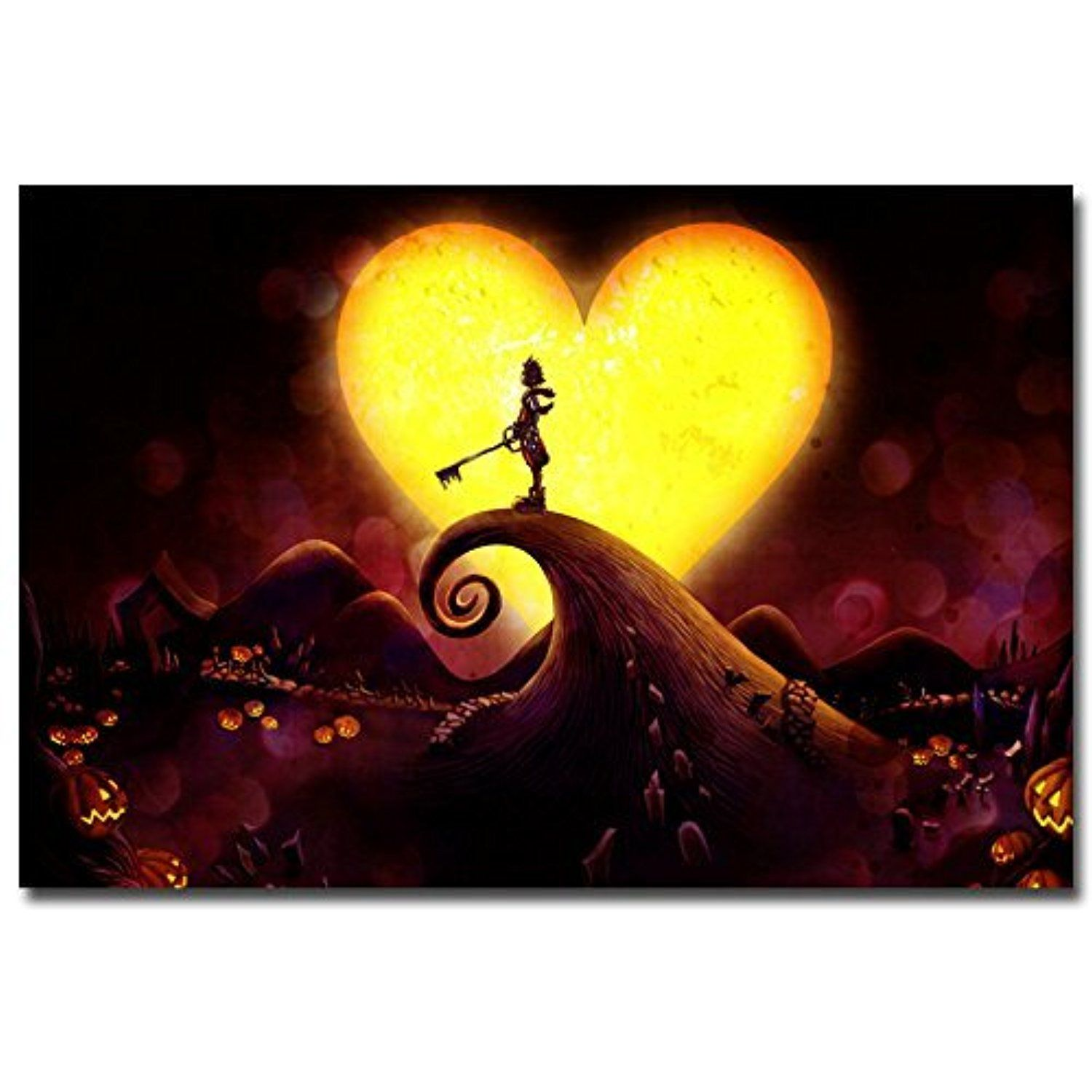 Lawrence Painting Kingdom Hearts Game Art Canvas Poster Print Home ...