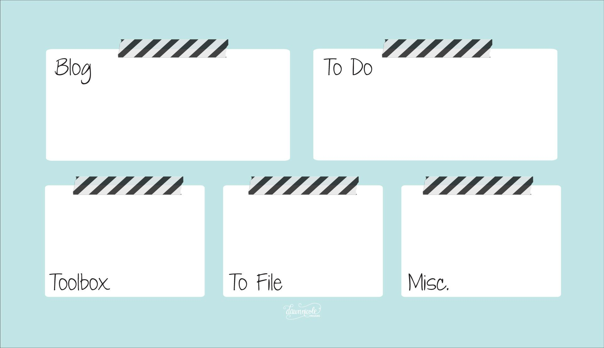 Organizational Desktop Wallpapers I Dream In Boxes And Labels