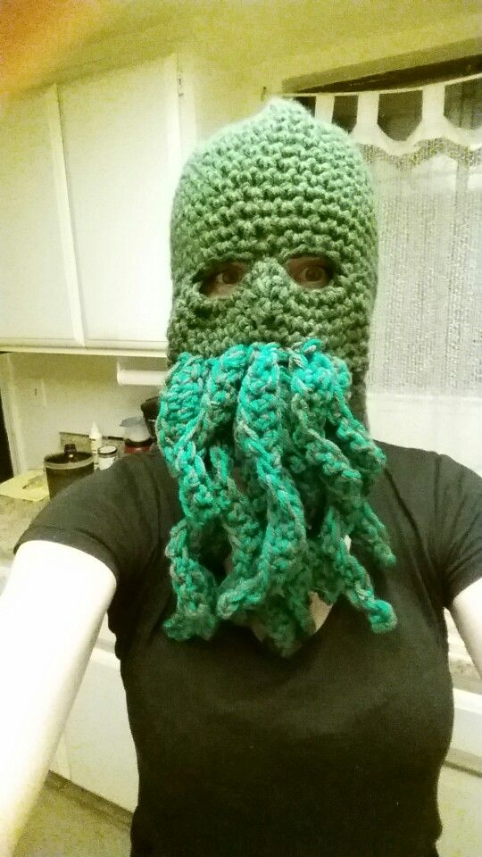 Kthulhu Crochet Ski Mask - gift for father
