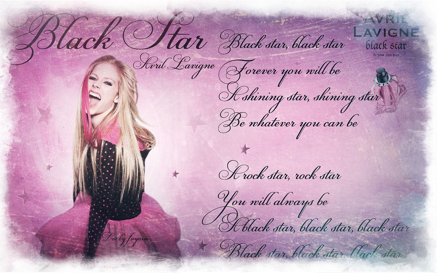 Black Star Avril Lavigne Black star, Music is life