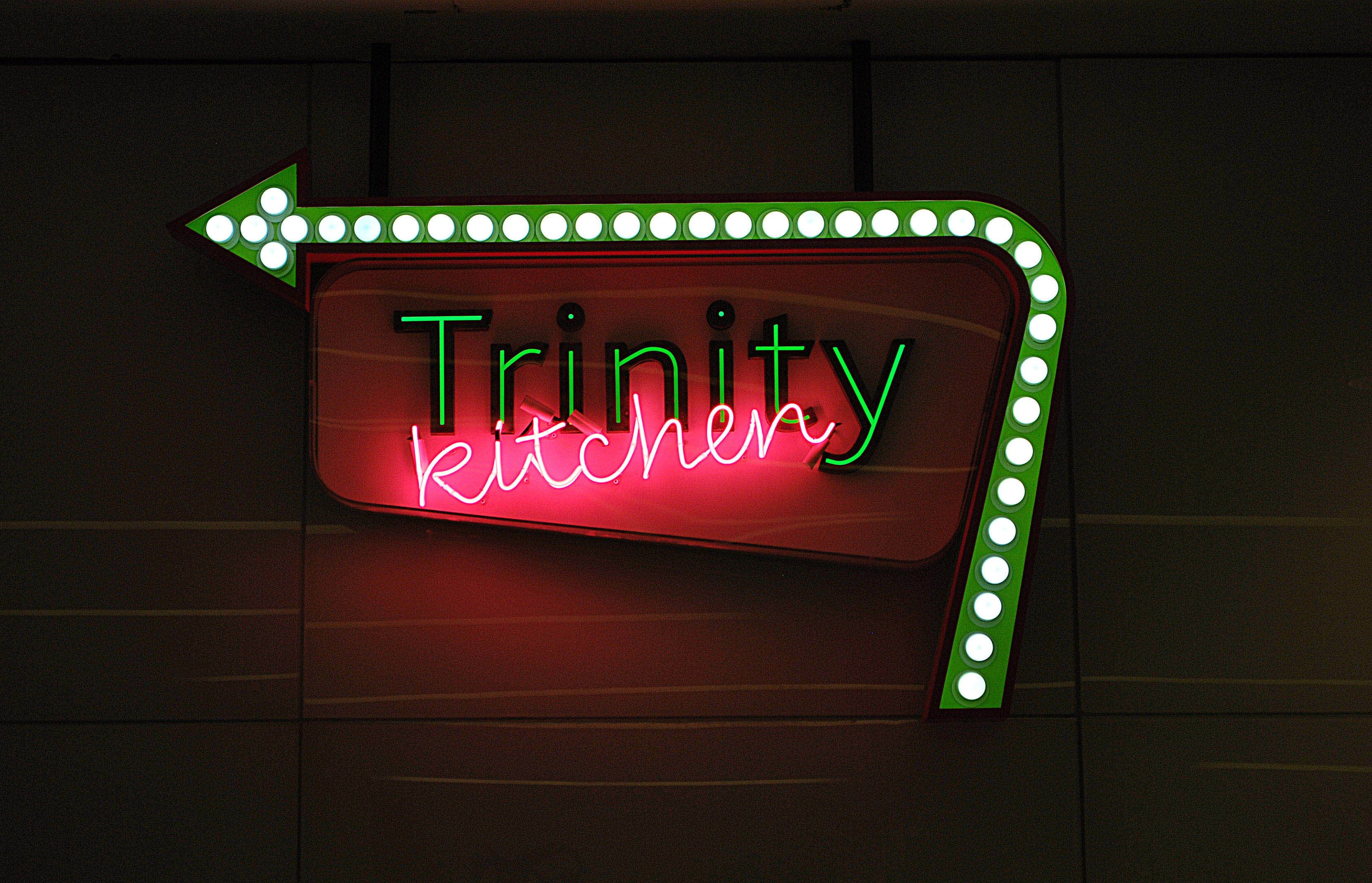 Directional prompts trinity kitchen leeds restaurant
