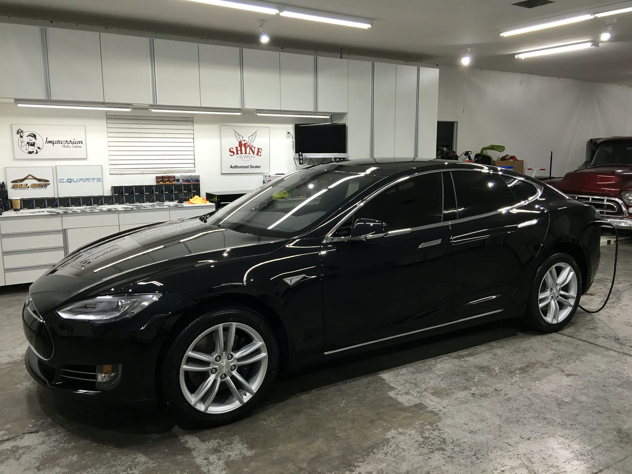 c80da888f7 After a complete paint enhancement polish. Then CQuartz ceramic coating  applied to the protecting film. Giving this Tesla Model S 90d the ...