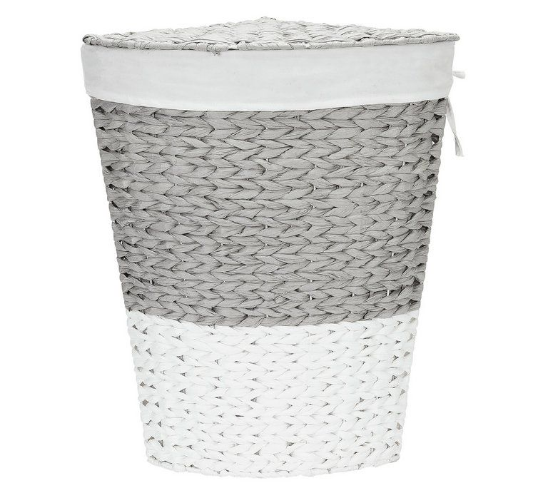 Buy Argos Home 45 Litre Corner Rope Laundry Bin Grey And White