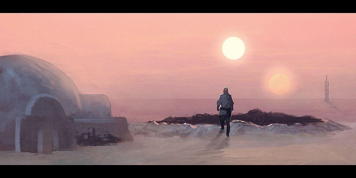 Binary Sunset by ApneicMonkey.. #StarWars #Art #gosstudio .☆ We ...