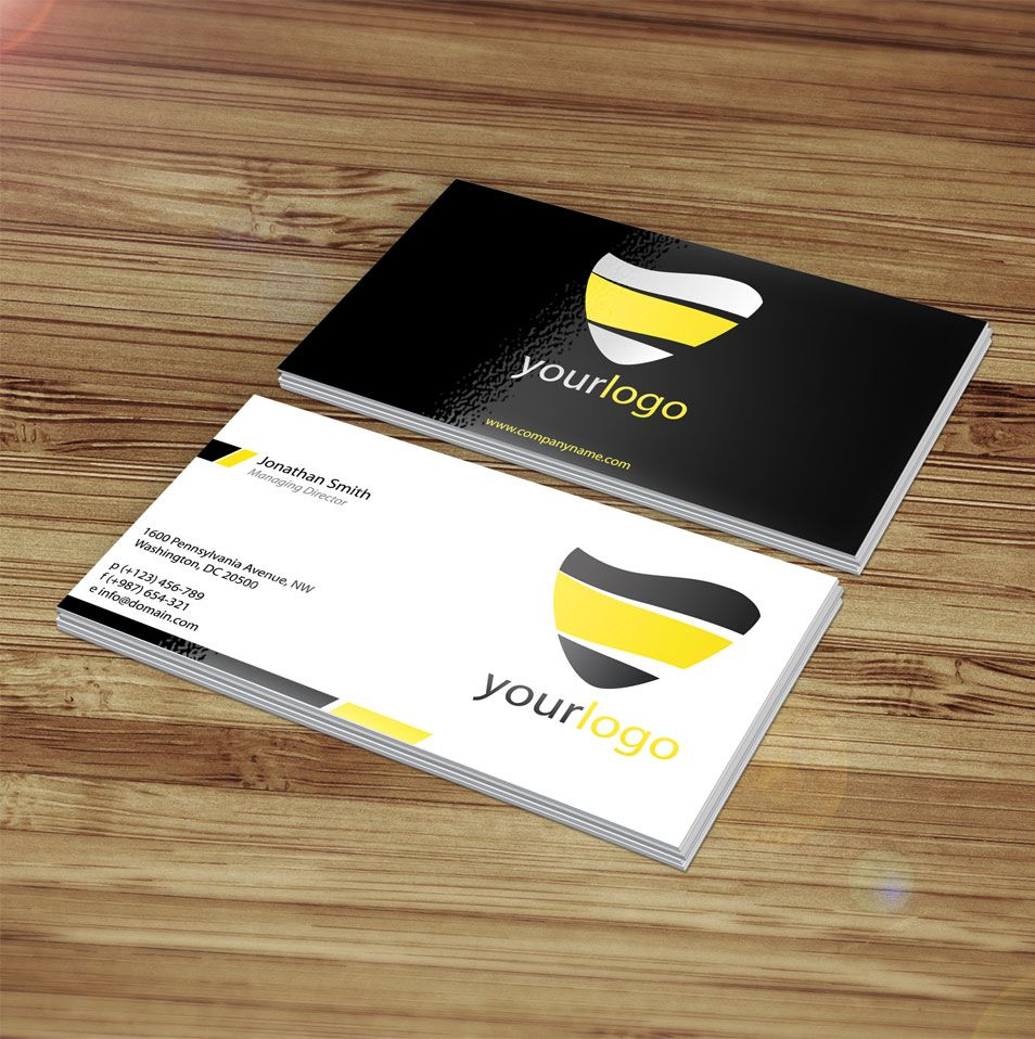 Cartes de visite / Business Card Mockup Визитки, Дизайн