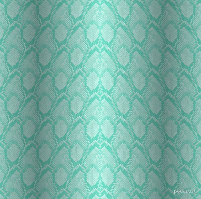 Tiffany Aqua Blue and White Python Snake Skin