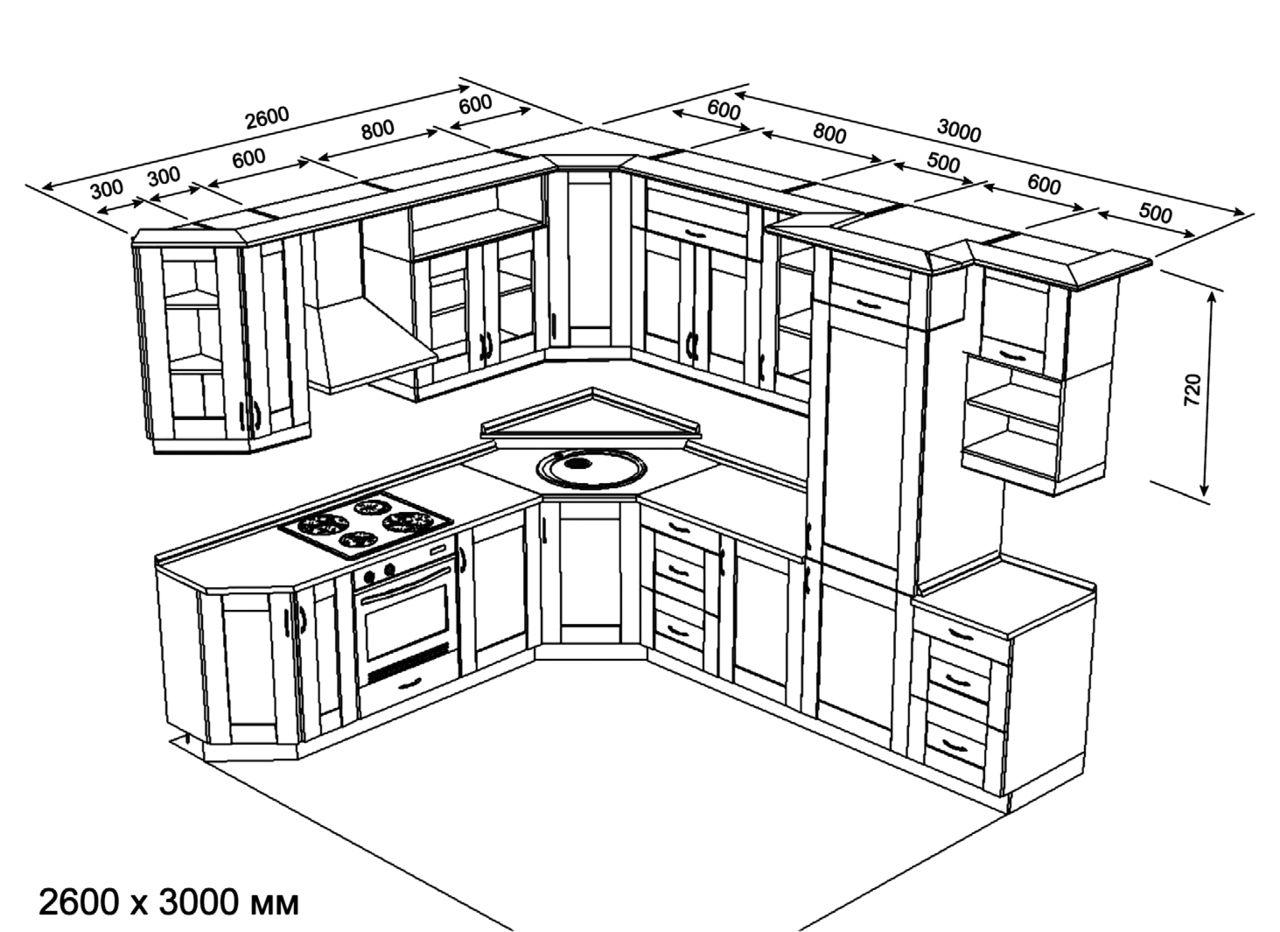 Кухни дизайн чертежи 190