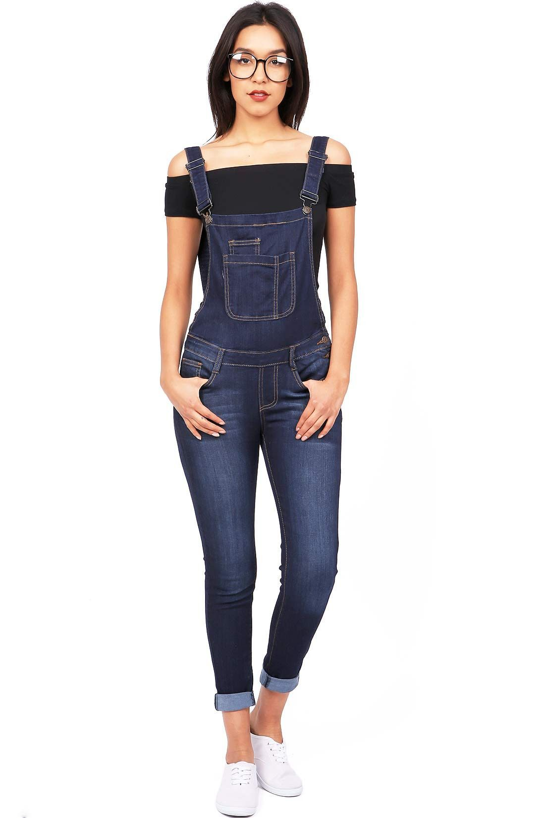 042b62cb5c2 Fitted overalls with traditional bib construction