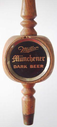 Vintage Miller Munchener Dark Beer Tap Handle Keg Wood Wooden | eBay