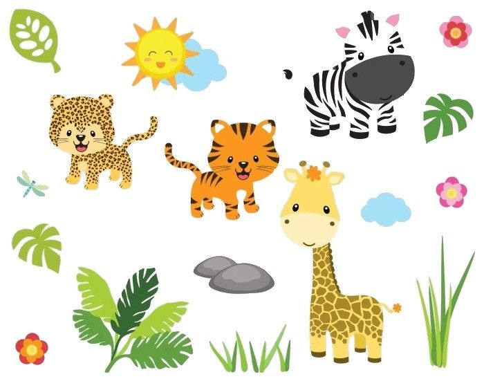Wandsticker SafariDschungel Wandtattoo kinderzimmer