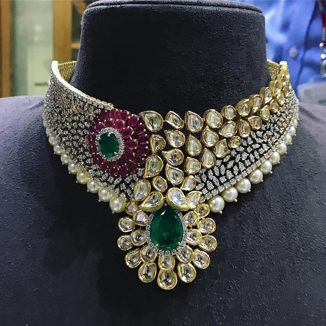 breathtaking heavy diamond necklace set designs master jewelry