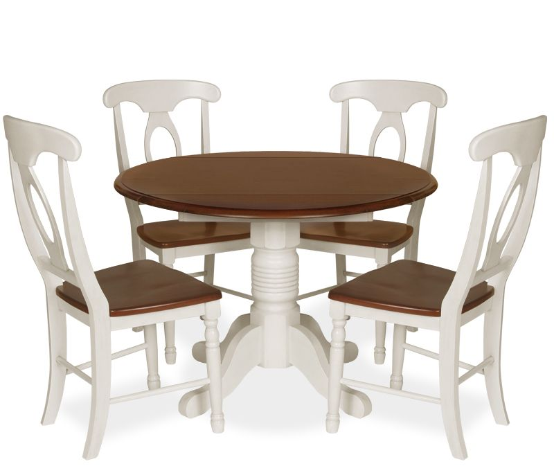 Good Coronado 5 Piece Round Drop Leaf Dining Set   Buttermilk   5 Piece Dining