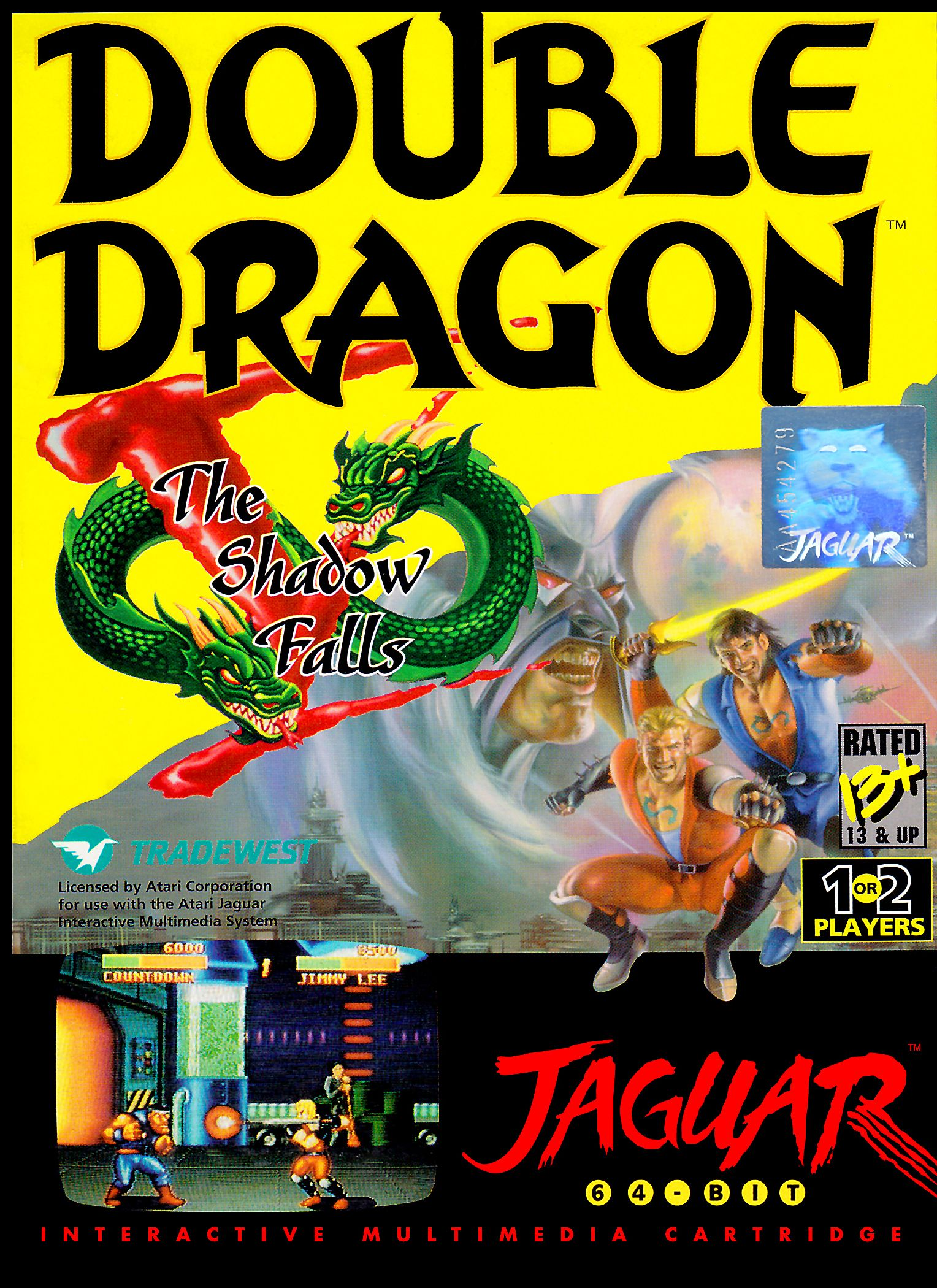 Box Cover For The Atari Jaguar Version Of Tradewest S Double
