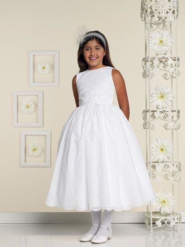 Spring Lace Satin Scoop Neckline First Communion Dresses (BSFCD ...