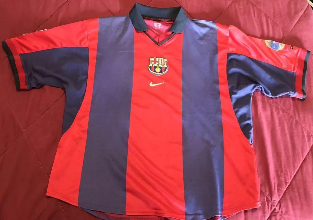 34b31627070 Nike F.C. Barcelona Centenary Jersey 2000-01 Size XL (eBay Link ...