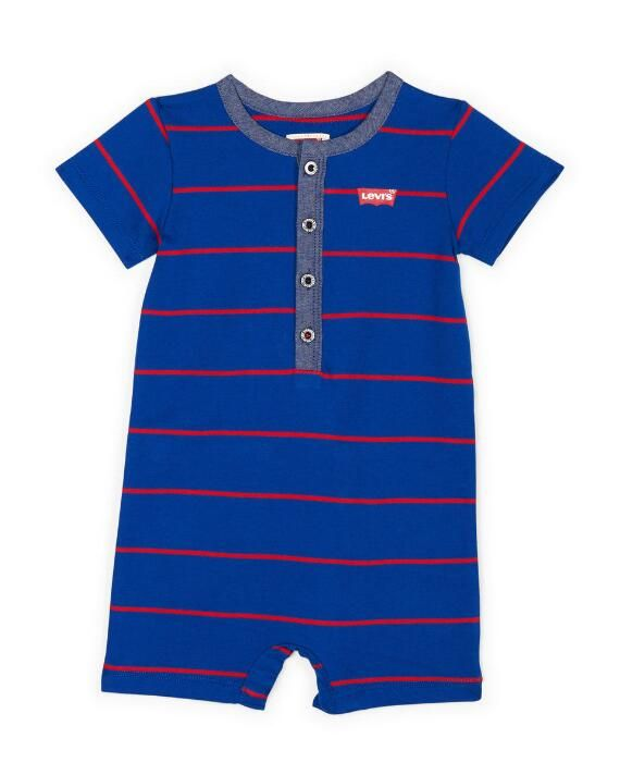 Photo of Baby Boy Chambray Henley Coverall