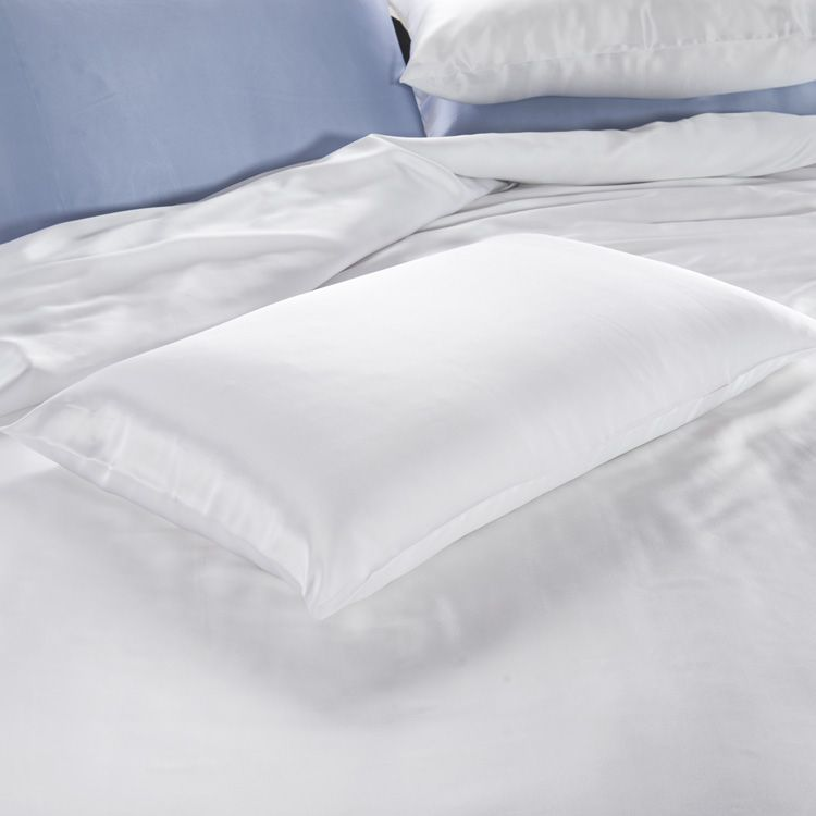 22 Momme Silk Housewife Pillowcase - Snow Bedding