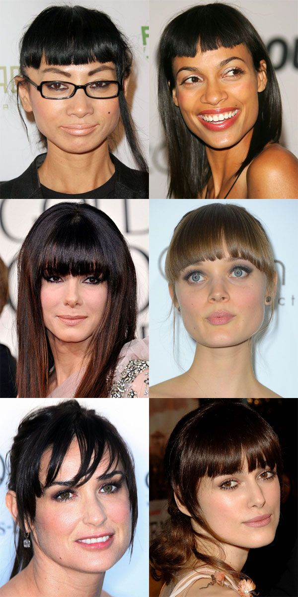 The Best And Worst Bangs For Square Face Shapes Haircuts For Long Hair With Bangs Square Face Hairstyles Long Hair With Bangs