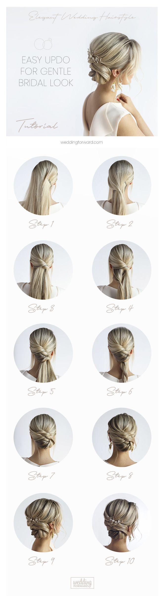 30 Elegant Wedding Hairstyles For Gentle Brides