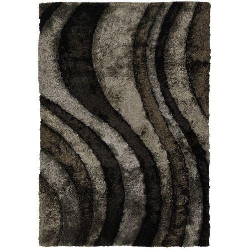 8 x 11 Large Grey & Brown Area Rug - Flemish