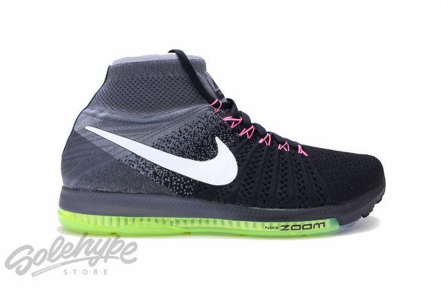 1ba916a0bc3f6 NIKE AIR ZOOM ALL OUT FLYKNIT BLACK COOL GREY VOLT WHITE 844134 002 Knee  High Boots