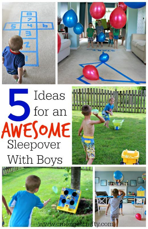 5 Boys Sleepover Ideas Boy Sleepover Sleepover And