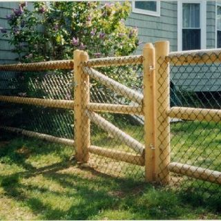 Would Work Well As A Farm Fence Wood Post And Rail With Chain