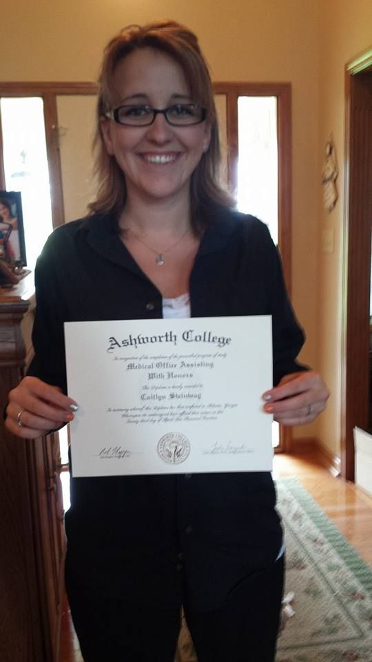Caitlyn Recently Graduate From Our Medical Office Assistant Training Program.  Great Smile, Caitlyn!