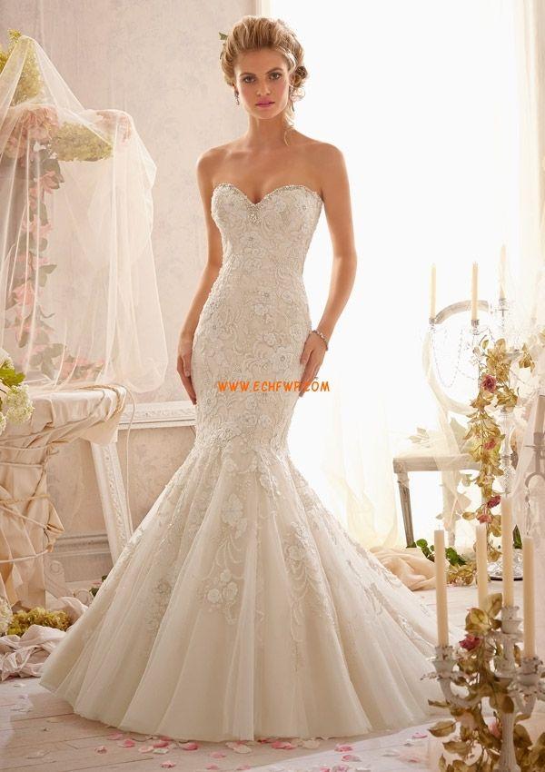 Hall Sjöjungfru Tyll Bröllopsklänningar 2014