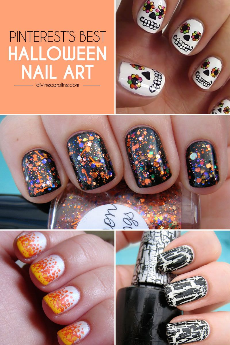 Pinterests Best Halloween Nail Designs Pinterest Makeup And