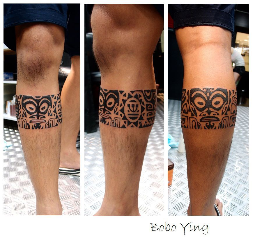 A small leg tattoo