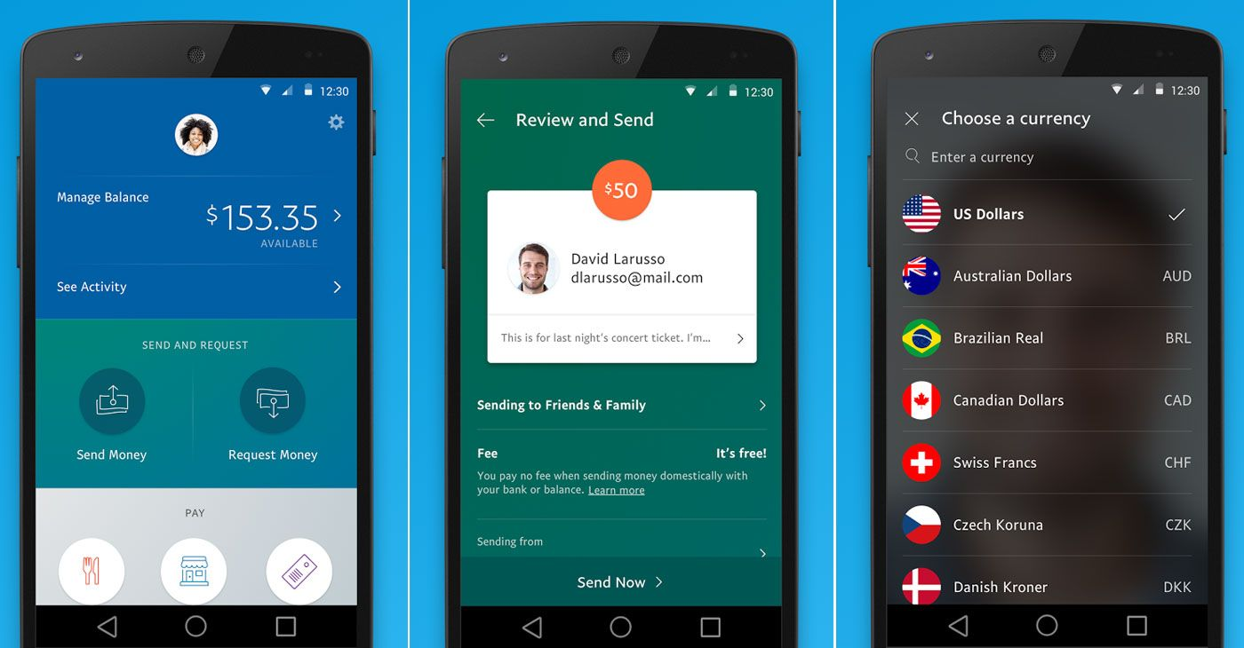 Paypals redesigned mobile app makes money transfers
