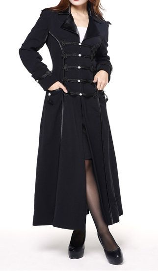 Plus Size Long Black Military Style Womens Coat | I would wear ...