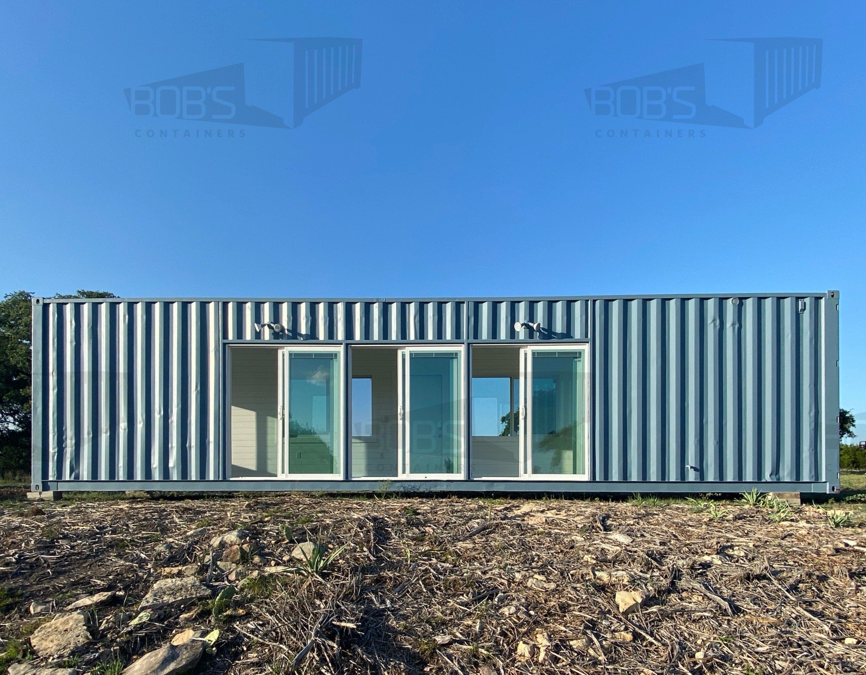 Photo of 40 ft Container Home – The Cedar Model – Shiplap / No Rooftop Views :( / Off-grid Plus: Solar & Water