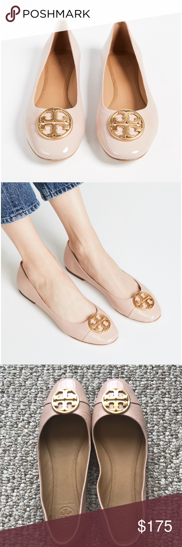 aa28c7d30bb8c Tory Burch Chelsea Cap Tow Ballet Flats Worn twice. Leather sole. Goan Sand  (