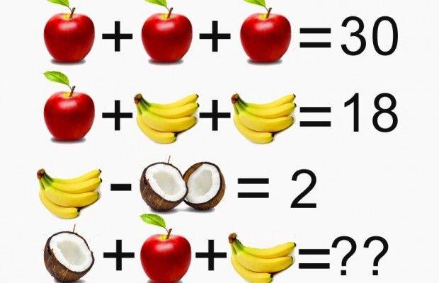 La Soluzione Del Rompicapo Indovinello Della Frutta Iltuocruciverba Rompicapi Indovinelli Giochi Matematici