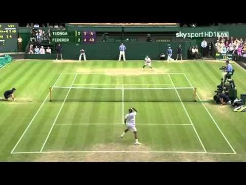 Wimbledon 2011 Q F Tsonga Vs Federer Highlights Hd Tennis Individual Sport Sports