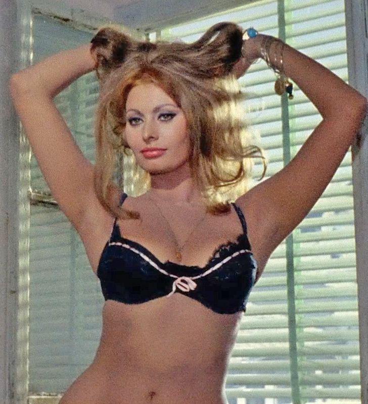 sophia loren hair like cat ears yesterday today tomorrow - Sophia Loren Hair Color