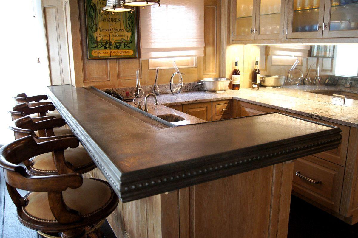 New Cast Zinc Bar Kitchen Countertop | cc | Pinterest