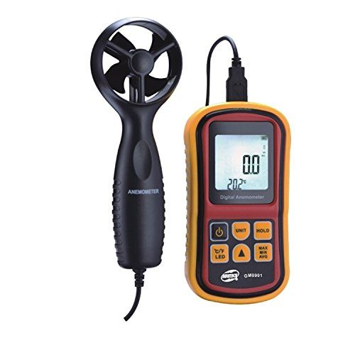 Anemometer Amgaze Digital Wind Speed Gauge Handheld Air Flow Velocity Measurement Device With Carry Bag Be Sure To Check Out T