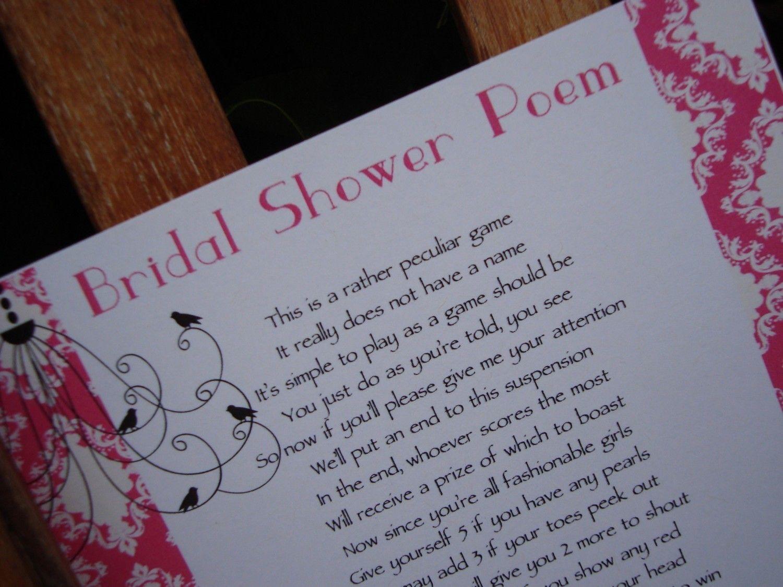 wine wedding shower gift poem%0A bridal shower poems