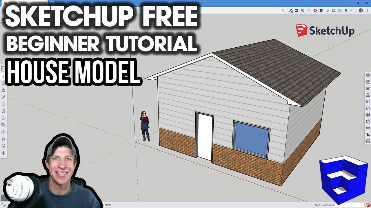 Getting Started With Sketchup Free Lesson 2 Creating A House