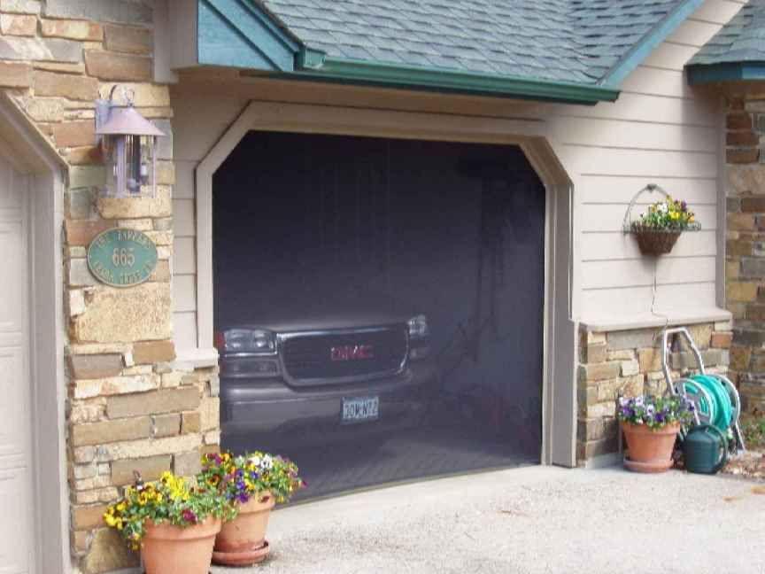 Garage door screens mosquito curtains garage doors