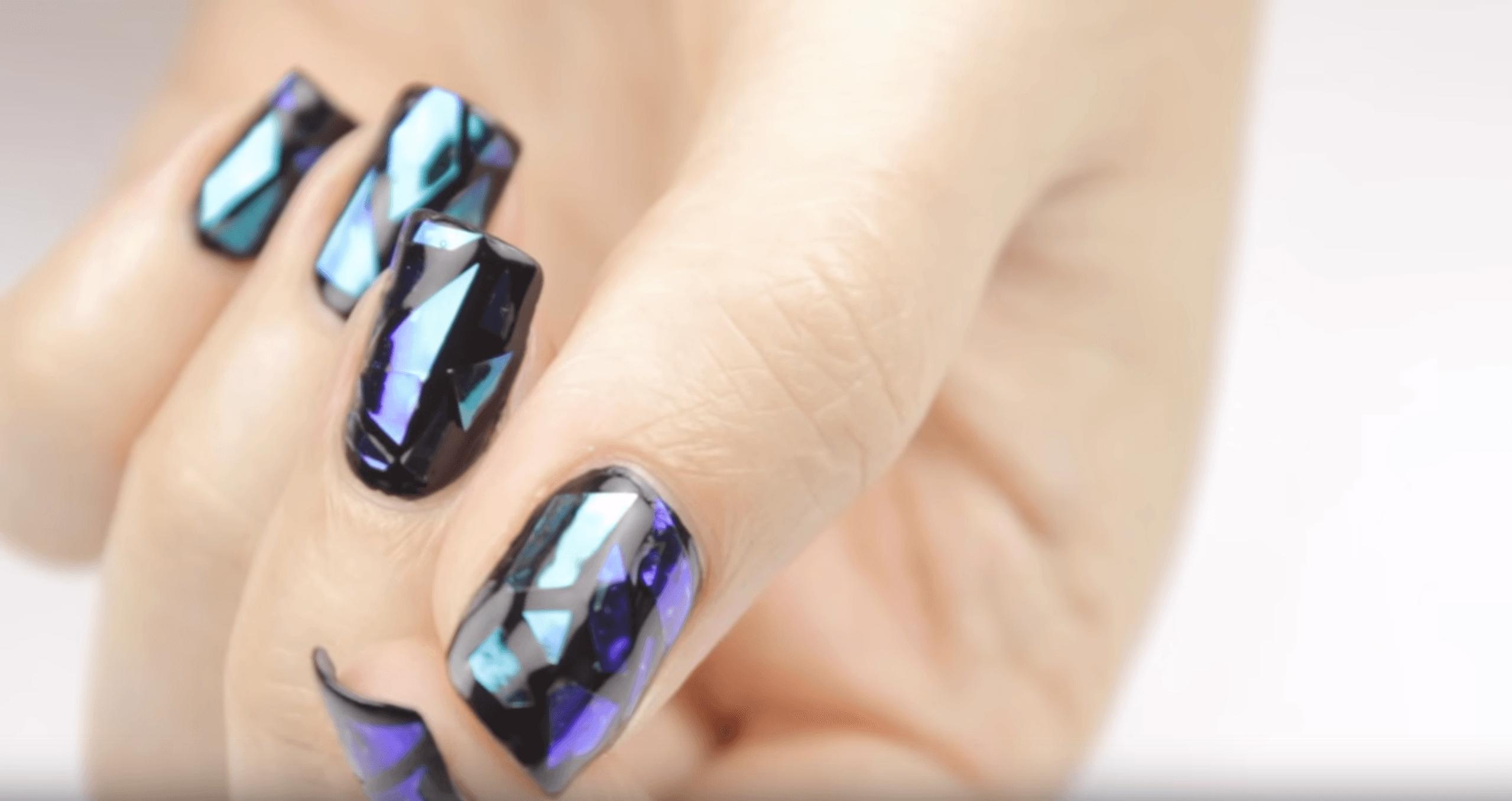 Dark glass nails | Makeup & Nails | Pinterest | Makeup