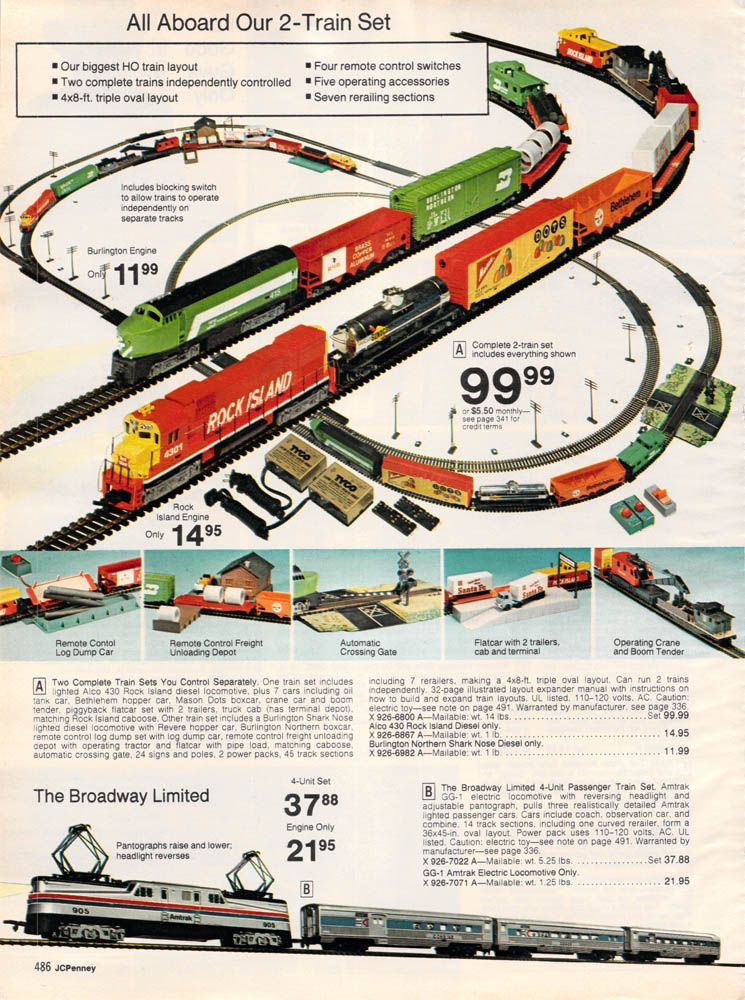 1977 jcpenney christmas page486 scale trains amp cars