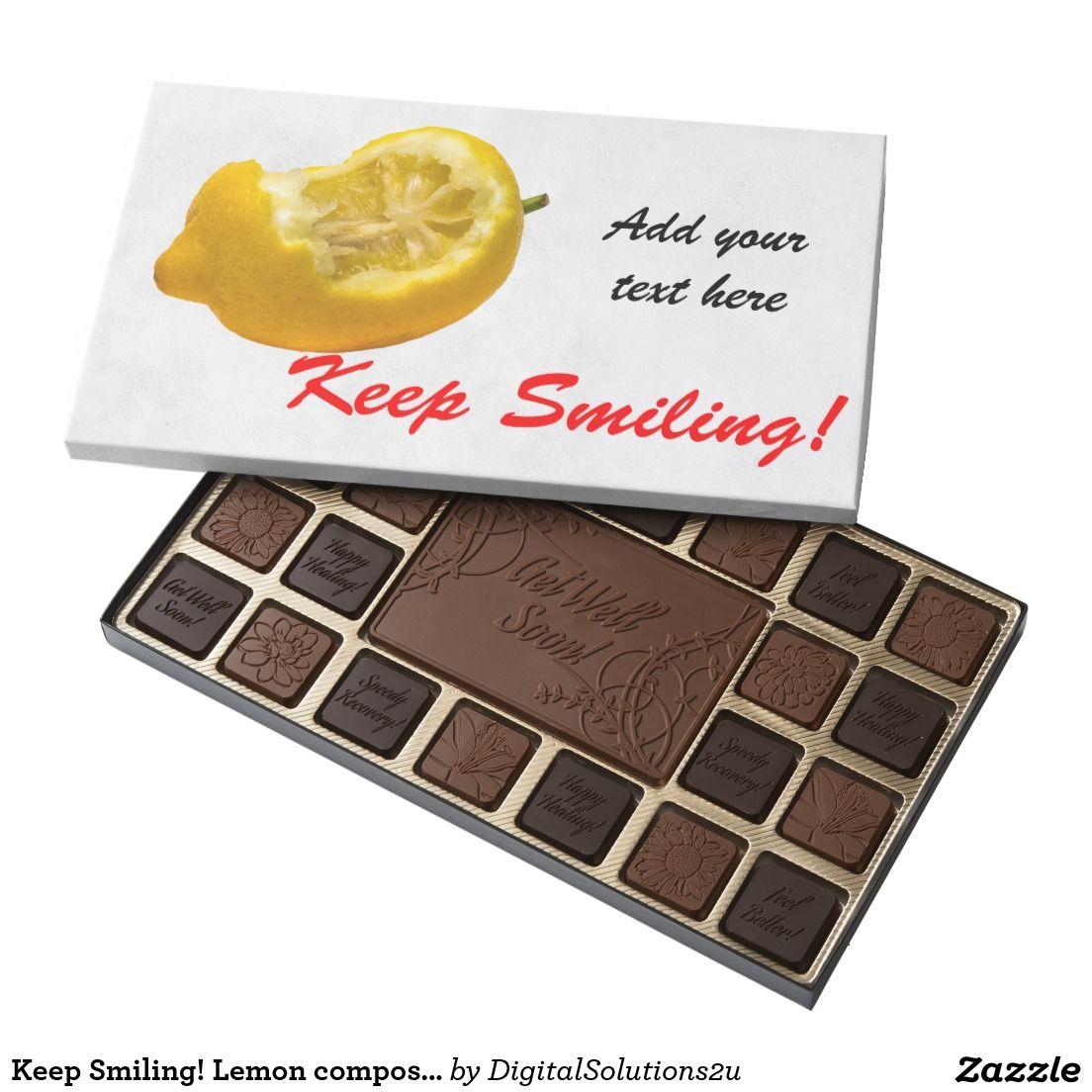 Keep Smiling! Lemon composition Assorted Chocolates