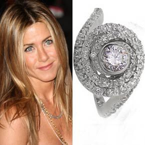 Jennifer Anistons Ultra Unique Engagement Ring From Brad Pitt Was Co Designed By Himself