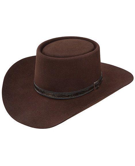 Stetson 4X Buffalo Revenger Felt Gambler Hat  628e829dfd88