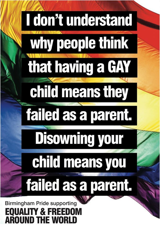Disowning your own child means YOU failed as a parent!
