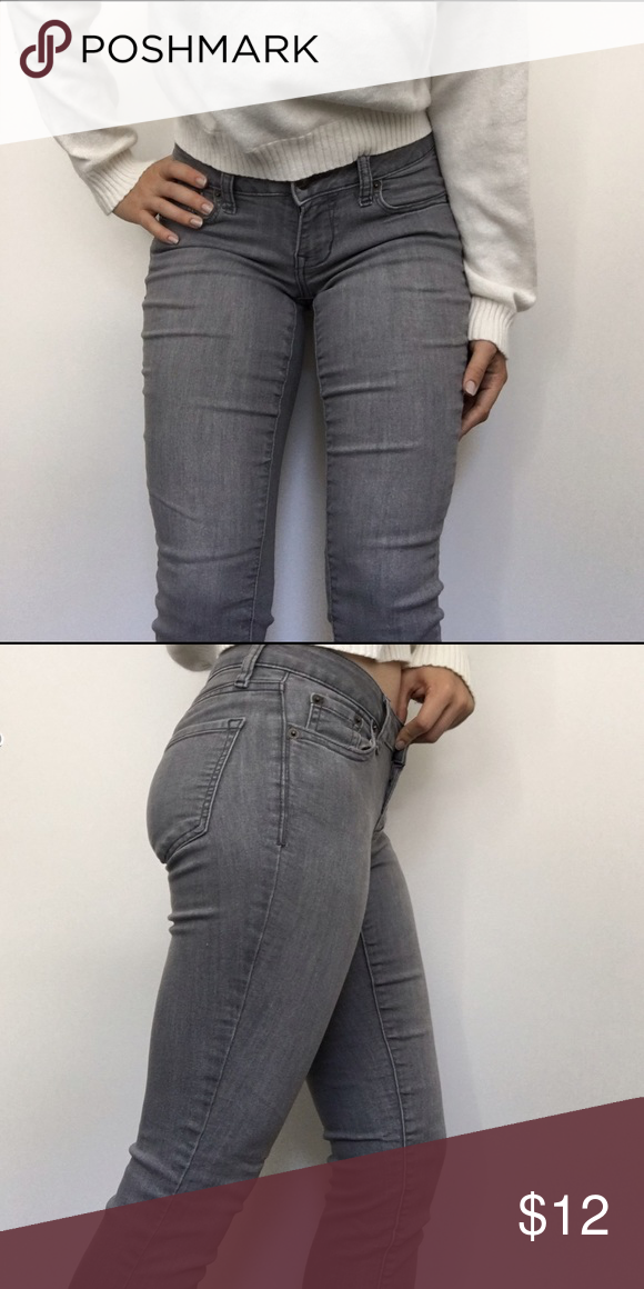 Gray skinny jeans Stretchy and comfortable grey skinny jeans from old navy! Run a bit small. Old Navy Jeans Skinny